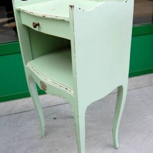 comodino in stile luigi xv h 70 cm laccato verde 01 6