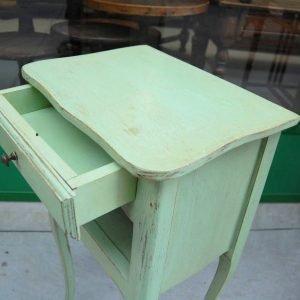 comodino in stile luigi xvi h 71 cm laccato verde 01 4