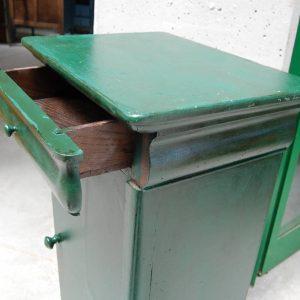 comodino luigi filippo meta 800 cappuccino laccato verde bottiglia h 84 cm 01 4
