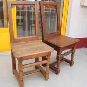 coppia di sedie lorenesi in rovere massello 700 h 84 cm 01 10