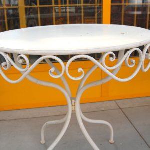 tavolino da giardino in ferro diametro 70 cm decorato spedizione gratuita 01 1
