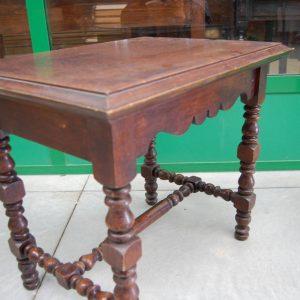 tavolino gamba tornita in rovere massello 800 fronte 80 cm 01 7