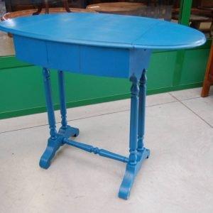 tavolino napoleone iii 800 con alette laccato azzurro lato 48 cm 01 3