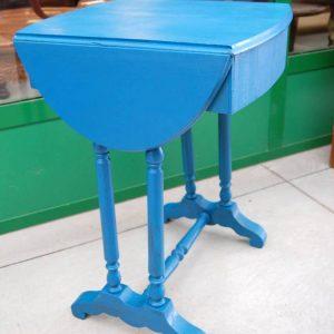 tavolino napoleone iii 800 con alette laccato azzurro lato 48 cm 01 6