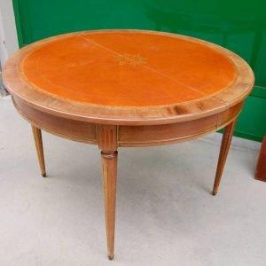 tavolo allungabile in stile luigi xvi in mogano diametro 110 cm completo di prolunga 01 7