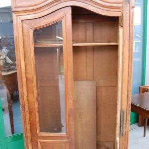 vetrina napoleone iii centinata in noce seconda meta 800 h 205 cm fronte 98 cm 01 5