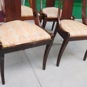 4 sedie impero gondoline fine 800 in mogano h 79 cm seduta imbottita 01 5