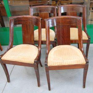 4 sedie in mogano impero gondoline 01