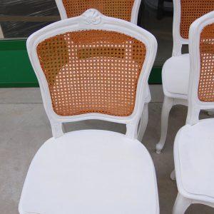 4 sedie provenzali con seduta in legno e schienale in paglia di vienna 01