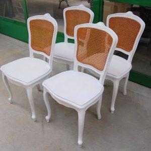 4 sedie provenzali con seduta in legno e schienale in paglia di vienna 01 7