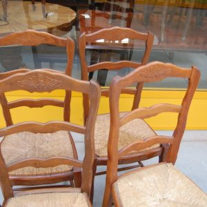 4 sedie provenzali in faggio massello seduta in paglia spedizione gratuita 01 13