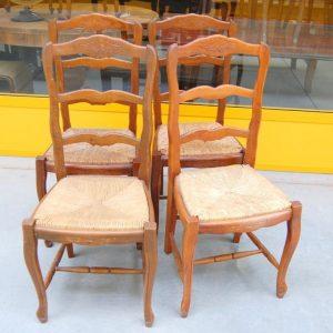 4 sedie provenzali in faggio massello seduta in paglia spedizione gratuita 01 14