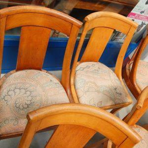 6 sedie gondoline impero in ciliegio massello seduta imbottita prima meta 800 h 106 cm 01 8