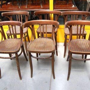 6 sedie in faggio inizio 900 da osteria italiane 01 8