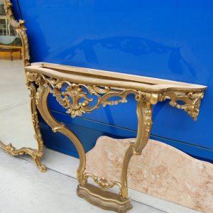 consolle con grande specchio in stile barocco veneziano fronte 100 h specchio 152 cm 01 8