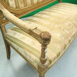divano luigi xvi dorato seconda meta 800 fronte 138 cm 01 8