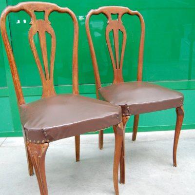 modernariato coppia di sedie in faggio massello anni 50 spedizione gratuita 01 1