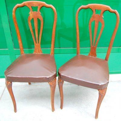 modernariato coppia di sedie in faggio massello anni 50 spedizione gratuita 01 6