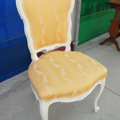 sedia rocailles scolpita 800 successivamente rinnovata e laccata bianca 01 10
