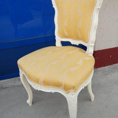 sedia rocailles scolpita 800 successivamente rinnovata e laccata bianca 01 8