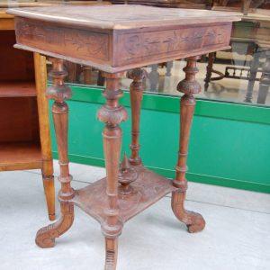 tavolino da lavoro fine 800 in pioppo piano apribile con specchio 01 2