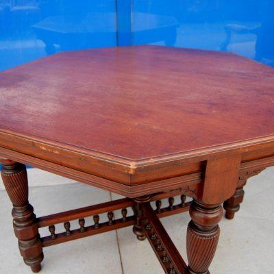 tavolino da salotto ottagonale inglese in mogano diametro 98 cm 01 3