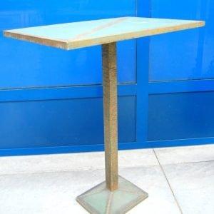 tavolino modernariato in ferro e rame lato 61 cm spedizione gratuita 01 1