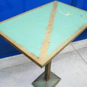tavolino modernariato in ferro e rame lato 61 cm spedizione gratuita 01 7