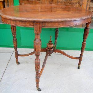 tavolino ovale inglese 800 lato 106 cm con ruotine 01