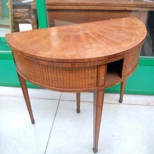 tavolo da gioco a mezza luna napoleone iii 800 con serrandina diametro 89 cm 01 13
