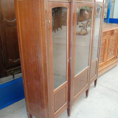 vetrina a 3 ante in mogano napoleone iii con filetti di ottone fronte 144 cm 01 7