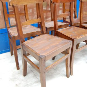 6 sedie rustiche in ciliegio massello piemontesi carabiniere h 86 cm 01 14