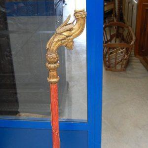 antico torcere 800 trasformato in lampada piantana scolpita h 149 cm 01 10