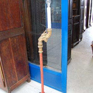 antico torcere 800 trasformato in lampada piantana scolpita h 149 cm 01 8
