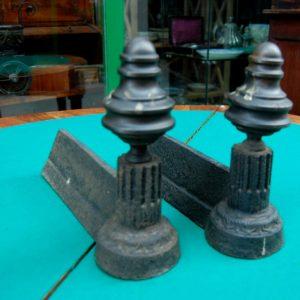coppia di alari napoleone iii meta 800 lunghi 30 cm 01 8