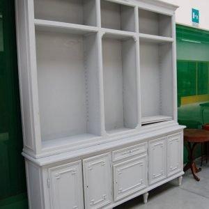 libreria primo 900 a due corpi laccata stile luigi xvi fronte 216 cm 01 14