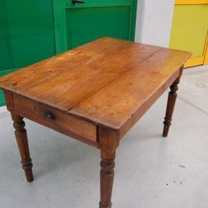 tavolo rustico in larice massello meta 800 gamba tornita lato 125 cm 01 4
