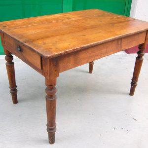 tavolo rustico in larice massello meta 800 gamba tornita lato 125 cm 01 7