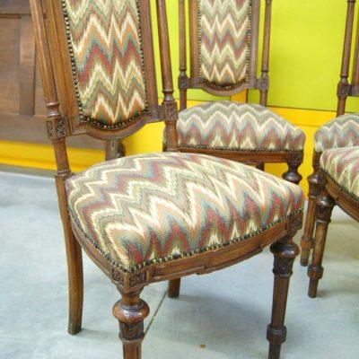 4 sedie umbertine in noce massello 800 imbottite 01 11
