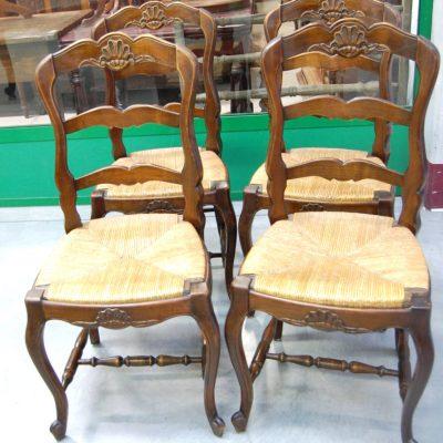 6 sedie in ciliegio massello scolpite provenzali 01 9