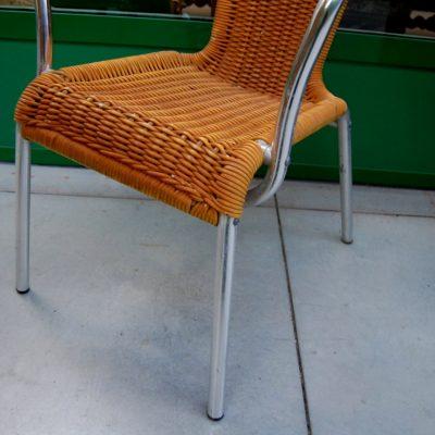 sedia in alluminio anni 60 modernariato 01 4