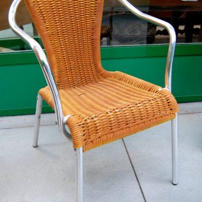 sedia in alluminio anni 60 modernariato 01 5