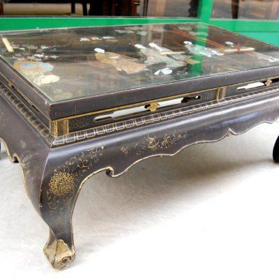 tavolino da salotto cinese lato 111 cm pietre dure e madreperla 01 14