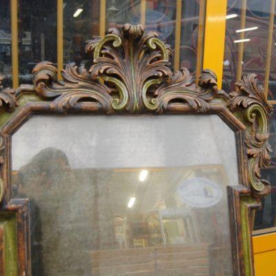 piccola specchiera specchio in legno scolpito e laccato 87 x 115 cm 01 6