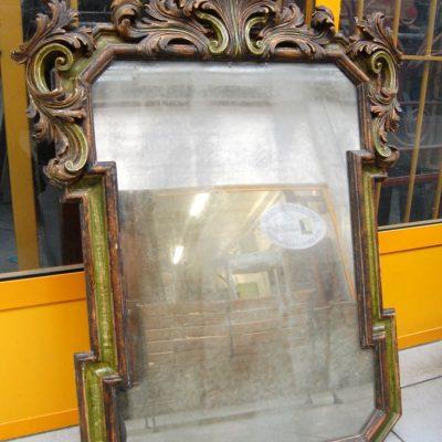 piccola specchiera specchio in legno scolpito e laccato 87 x 115 cm 01 7