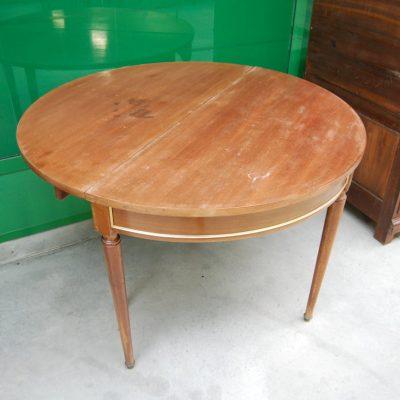 tavolo consolle a mezza luna in mogano luigi xvi 900 con ottoni diametro 110 cm 01 5