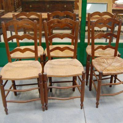 6 sedie provenzali camargue in ciliegio 800 01 10
