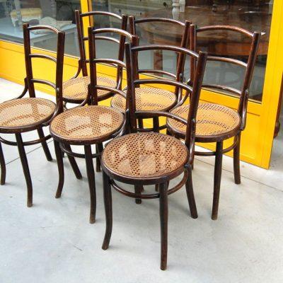 6 sedie thonet timbrate vienna paglia di vienna in ottimo stato 01 7