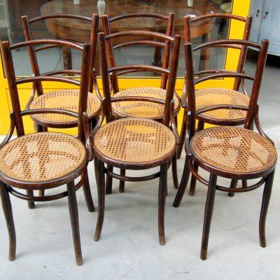 6 sedie thonet timbrate vienna paglia di vienna in ottimo stato 01 8