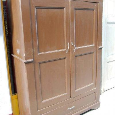armadio rustico in pioppo 800 piemontese a due ante fronte 128 cm 01 7